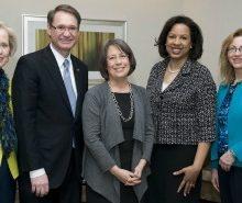 CGI & Women's Center leaders