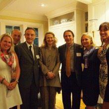 From Left: Olwen Pongrace, Robert Liberatore, Ambassador of Italy, Mrs. Bisogniero, Scott Tucker, Diane Schaefer, Debra Kraft
