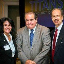 Camille Baroni, Justice Antonin Scalia, Greg Baroni, TITANS Breakfast, NVTC