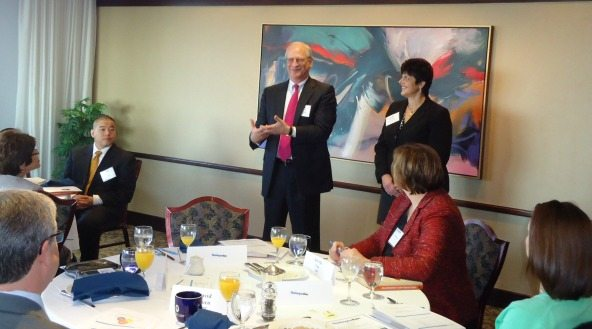 Alan Berson (Leadership Conversations) and Eleni Antoniou (FCi Federal)