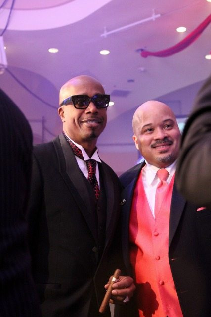 MC Hammer and Guest at Fight Night