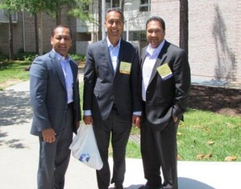 Vivek Malhotra (VMD Systems), JD Kathuria (WashingtonExec) and Sanjay Sardar (FERC)