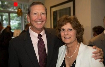 Dan Johnson, President of GD-Information Technology, with his wife Cindy at the Road to Independence Gala.