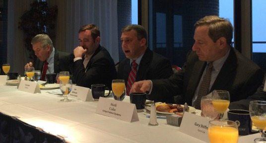 Jeff Ward (MaaS360 by Fiberlink, an IBM Company), Tom Suder (Mobilegov), Jon Johnson (GSA), Mark Cohn (Unisys Federal Systems)