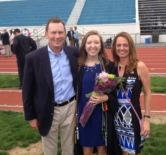 Doug Lane (Capgemini GS) with his daughter Kate and wife Debra.