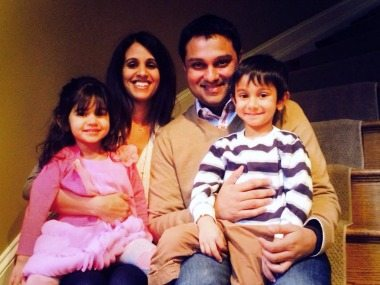 Mehul Sanghani (Octo Consulting) with his family.