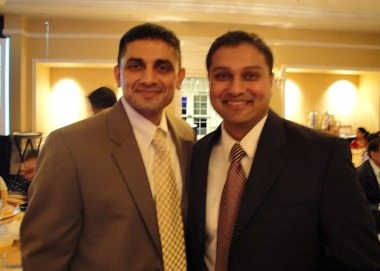 Sanghani with his mentor Suneet.