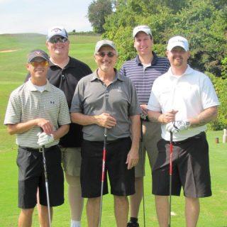 Ryan Barker, Howard Zach, Sal Fazzolari, and Len Rosenblum from CRGT. Tyler Hallock is a veteran associated with Boulder Crest.
