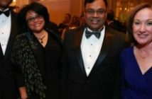 NASA's Leonard Newman and his wife Sherri, with Attain president Manish Agarwal and National Kidney Foundation National Capital Area president Pamela Gatz. Photo credit Bisnow