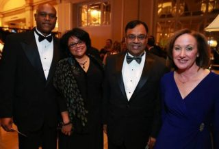 NASA's Leonard Newman and his wife Sherri with Attain president Manish Agarwal and National Kidney Foundation National Capital Area president Pamela Gatz.