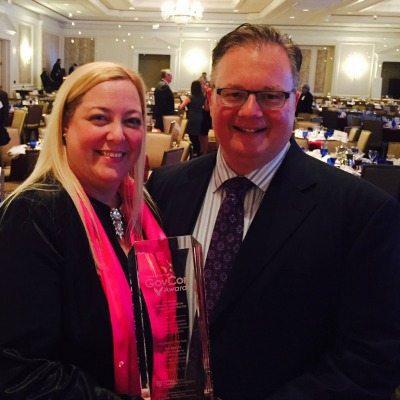 Lynn Ann Casey and Rob O'Keefe of ArcAspicio, 2014 GovCon Awards Program of the Year Winners