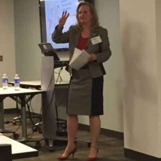 Kay Curling speaks to the WashingtonExec Executive Assistant Council on Feb. 4, 2015