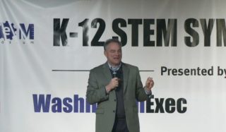 Virginia Senator Tim Kaine addresses STEM Symposium attendees