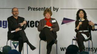 Leidos' Rob Zitz, NGA's Dr. Ann Carbonell and Google's Michele Weslander-Quaid speak at the 2015 K-12 STEM Symposium