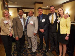 Event sponsors Unissant, from left,