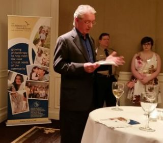Paul speaking at the Community Foundation for Northern Virginia's Cocktails & Conversation event