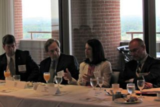 David Chipman, SAIC; Mark Cohn, Unisys; Donna Roy DHS; James Scampiava, American Systems