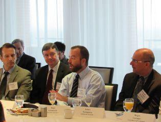 Claudio Belloli, GSA; Rob Graham, Carpathia, Inc.; Matt GoodRich, FedRAMP; James Scampavia, American Systems