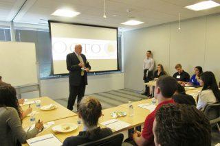 Steve Radloff, of ManTech International, explains the security clearance process to WashingtonExec NextGen Beltway Leaders