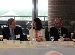Mark Cohn, Unisys; Donna Roy DHS; James Scampiava, American Systems