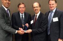 JD Kathuria (WashingtonExec), General David Petraeus (KKR Global Institute), Greg Baroni (Attain), Brian McHugh (ManTech International)