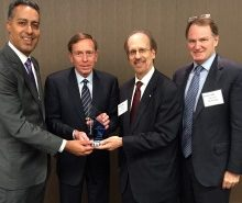 JD Kathuria (WashingtonExec), General David Petraeus (KKR Global Institute), Greg Baroni (Attain), Brian McHugh (ManTech International)