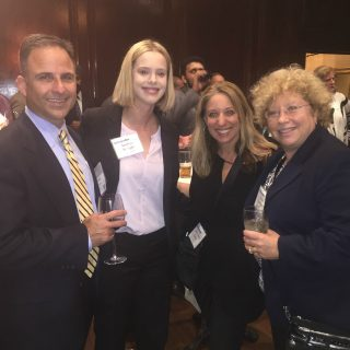 From left, Joe Cubba of IBM, Andrea Wright of Unissant, Lori Feller of IBM, and XXX