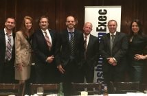 From left, Frank Konkel (Government Executive), Sheila Blackwell (Decision Sciences), Larry Rosenfeld (Sage Communications), Aaron Gregg (The Washington Post), Alan Hill (Serco), Andrew Bryden (SRA International) and Eileen Cassidy Rivera (Harris)