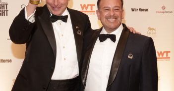 Raul Fernandez and Virginia Governor Terry McAuliffe on the red carpet. Photo credit Credit Jack Hartzman/Fight For Children