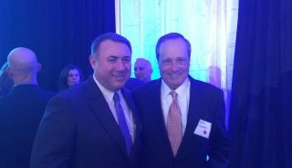 NCI Inc. CEO Brian Clark and Paul Lombardi, NCI Inc. Board of Directors member at the 13th Annual Greater Washington GovCon Awards