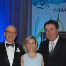 Ed Offterdinger, Executive Managing Partner of Baker Tilly, LLS Executive Director Beth Gorman, Wayne Berson, CEO of BDO at the 2015 Leukemia Ball