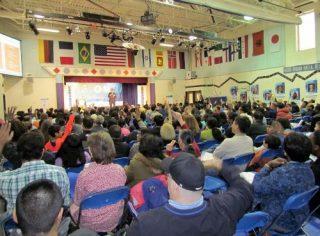 large audience photo edited