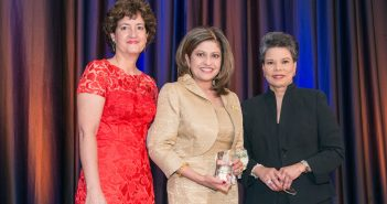 WIT President Lisa Dezzutti, Kay Kapoor and event emcee Maureen Bunyan of ABC7, WJLA at the WIT 17th Annual Leadership Awards