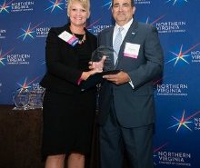 CALIBRE's Joe Martore receives the 2016 Outstanding Veteran and Military Advocate Award at the Northern Virginia Chamber of Commerce Annual Outstanding Corporate Citizenship Awards