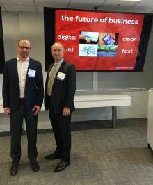 Keynote Speaker Jamie Notter and Strategic Human Capital Council Chairman Steven Woolwine, AECOM