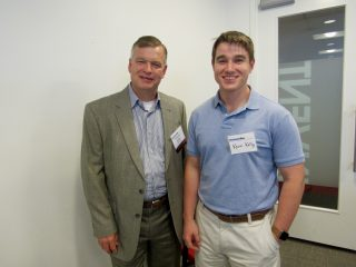 Event sponsor Dennis Kelly (IOMAXIS) and his son Kevin Kelly.