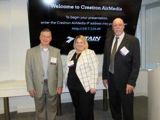 Dennis Kelly (IOMAXIS), Claire Morse (Salient CRGT), and Steve Radloff (ManTech International).