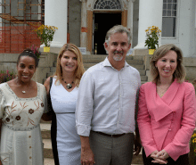 From left: Loudoun County Board of Supervisors Chair At-Large Phyllis J. Randall, FCi Federal Founder and Chairman Sharon D. Virts, FCi Federal CEO and President Scott Miller are joined by Congresswoman Barbara Comstock for the launch of the Sharon D. Virts Foundation.