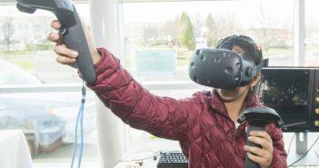 Virtual reality showcase at 4th annual STEM Symposium