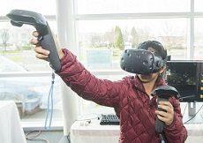 Virtual reality showcase at STEM Symposium