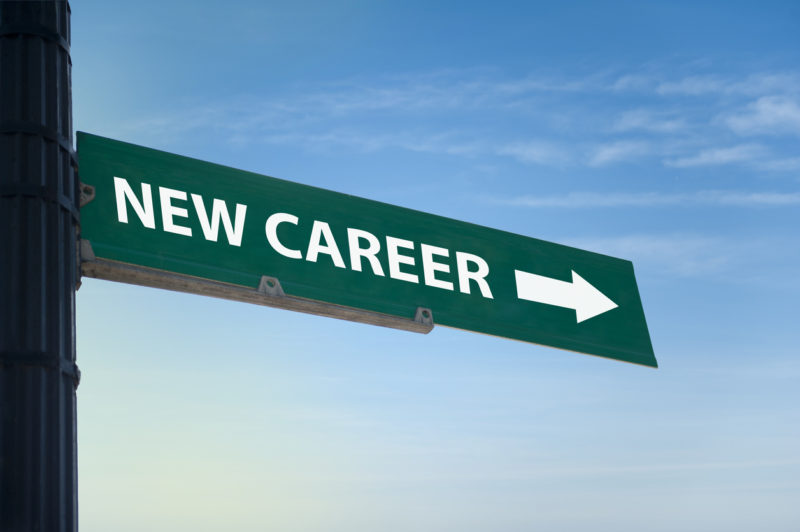 A sign that says New Career