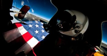 A U-2 Dragon Lady pilot assigned to the 9th Reconnaissance Wing pilots the high-altitude reconnaissance platform at approximately 70,000 feet above an undisclosed location. The U-2 is a high-altitude, near space reconnaissance aircraft and delivers critical imagery which enables decision makers at all levels the visual capabilities to execute informed decisions in any phase of conflict. (U.S. Air Force photo by Lt. Col. Ross Franquemont)