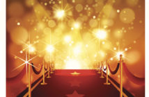 Self illustrated beautiful Red Carpet with bright flashy background.Each element in a separate layers.Very easy to edit vector EPS10 file.It has transparencies and the effects.