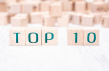 The Words Top 10 Formed By Wooden Blocks On White Table