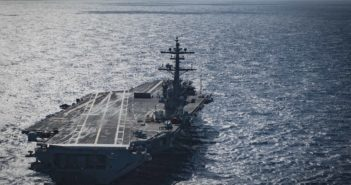 181106-N-QD512-0053 ATLANTIC OCEAN (Nov. 6, 2018) The aircraft carrier USS George H.W. Bush (CVN 77) transits the Atlantic Ocean, Nov. 6, 2018. George H.W. Bush is underway in the Atlantic Ocean conducting routine training exercises to maintain carrier readiness. (U.S. Navy photo by Mass Communication Specialist Seaman Kaleb Sarten/Released)