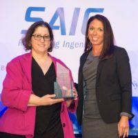 Last year, Stephanie Mango received a Pinnacle Award from Jamie Graham of KippsDeSanto