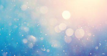 Defocused blue background with light spots