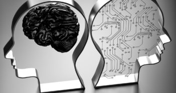 Artificial intelligence (AI) against the human brain.