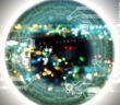 close up Artificial Intelligence technology city for backgroundsFuturistic eye, Artificial Intelligence, Globe - Navigational Equipment, DataBrain Wave, Artificial Intelligence, city.Data,Face recognition