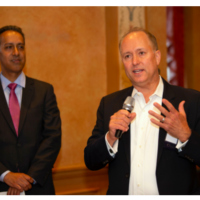 Steve Woolwine speaks at an event.